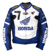 New Honda Joe Rocket Blue Motorcycle Leather Jacket