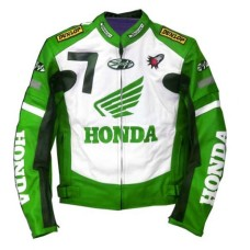 New Honda Joe Rocket Green Motorcycle Leather Jacket