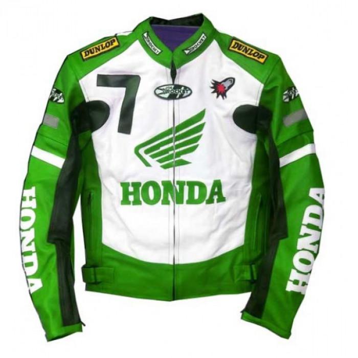 New Honda Joe Rocket Green Motorcycle Leather Jacket