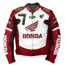 New Honda Joe Rocket Red Motorcycle Leather Jacket