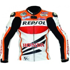 HONDA BATTLAX REPSOL Motorbike Motorcycle LEATHER Jacket