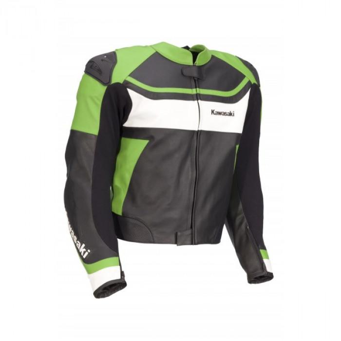 Kawasaki Ninja Motorcycle Racing Biker Leather Jacket