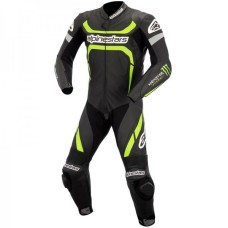 ALPINESTARAS MOTEGI MONSTER BLACK BIKER LEATHER SUIT