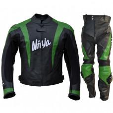 Kawasaki Ninja green Racing Motorbike Leather Jacket Men