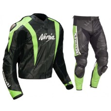 KAWASAKI NINJA MOTORCYCLE BIKER LEATHER RACING SUIT MEN'S