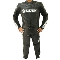 SUZUKI GSXR RACER LEATHER BIKER SUIT