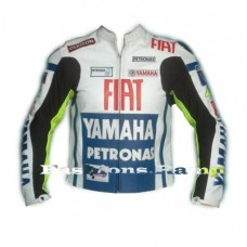 YAMAHA FIAT TEAM RACING VALTINO ROSSI BIKER LEATHER JACKET
