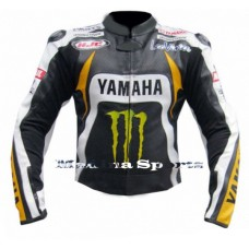 Men's Motorbike Motorcycle Yamaha Monster MotoGP Ben Spies Leather Jacket