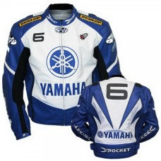 New Yamaha Joe Rocket Blue Motorcycle Leather Jacket Padded S TO 6XL manufacturer