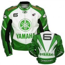 New Yamaha Joe Rocket Green Motorcycle Leather Jacket Padded S TO 6XL manufacturer