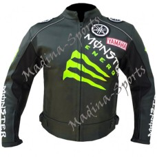 Yamaha Black Biker Leather Jacket