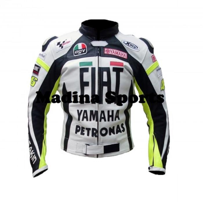 Yamaha Fiat Petronas Motorbike Leather jacket For Men's