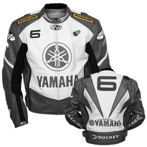 YAMAHA MOTORCYCLE LEATHER RACING JACKET FULL BODY PROTECTION CE APPROVED