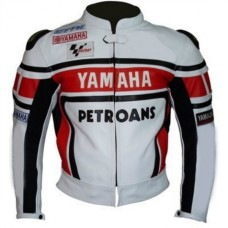 YAMAHA PETRONAS MOTORCYCLE LEATHER JACKET BACK HUMP