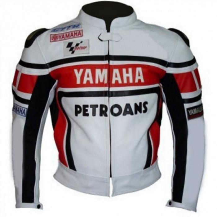 YAMAHA PETRONAS MOTORCYCLE LEATHER JACKET BACK HUMP