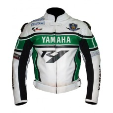 Yamaha R1Green Motorbike Motorcycle Biker LEATHER Jacket