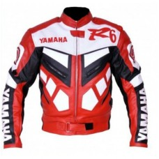 Yamaha R6 Biker Leather Jacket Original Leather