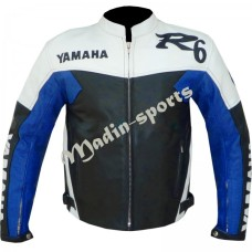 Yamaha R6 Motorbike Leather Jacket Men's