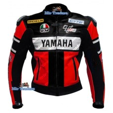Yamaha Red 46 Rossi Scooter Motorbike Leather jacket Men