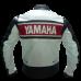 YAMAHA WHITE AND RED BIKER LEATHER JACKET
