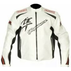 White Hayabusa Custom Made Best Quality Racing Leather Jacket For Mens