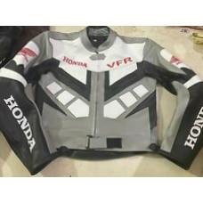 Honda VFR Custom Made Best Quality Racing Leather Jacket For Mens