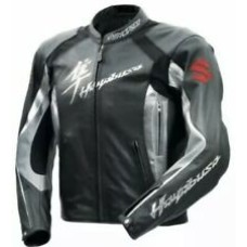 Suzuki Hayabusa Custom Made Best Quality Racing Leather Jacket For Mens