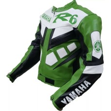 R6 Yamaha Custom Made Best Quality Racing Leather Jacket For Mens
