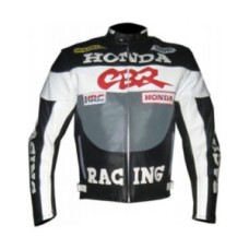 CE Approved Protections Men Honda Motorcycle Leather Jacket