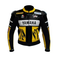 Handmade Mens Yamaha Cowhide Racing Leather Jacket