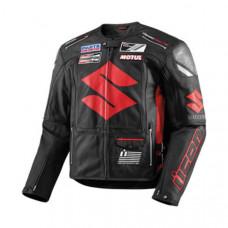 High Quality Suzuki Motorbike Leather Jacket