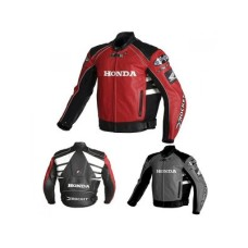 Honda Red And Black Racing Leather Jacket