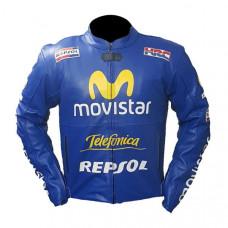Honda Repsol Cx Cowhide Motorbike Leather Jacket
