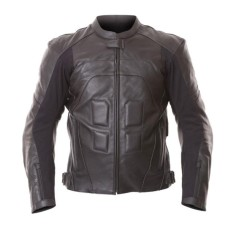 Black Mens Motorcycle Leather Jackets For Racer