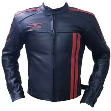 Black Motorbike Leather Jacket With Real Quality