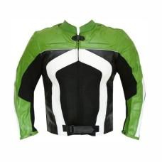 New Mens Razer Motorcycle Biker CE Armor Mesh Leather Green Jacket