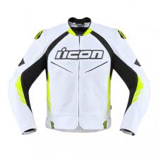 Prime Quality White Icon Motorcycle Leather Jacket