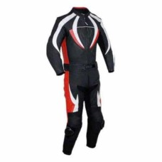 Real Quality Men Motorcycle Leather Racing Suit