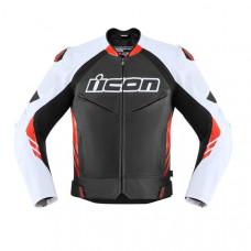 Black-Red High Speed Motorbike Leather Jacket