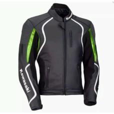 KAWASAKI MOTORBIKE/MOTOGP/MOTORCYCLE RACING LEATHER JACKET